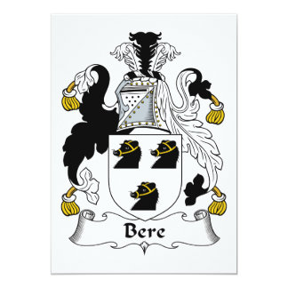 Bere Family Crest Card