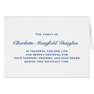 Bereavement and Sympathy Thank You Notes