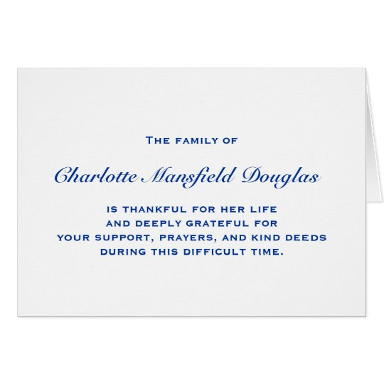 Bereavement and Sympathy Thank You Notes | Zazzle.com