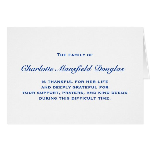 thank you card for funerals