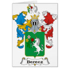 Berecz Family Hungarian Coat of Arms Card