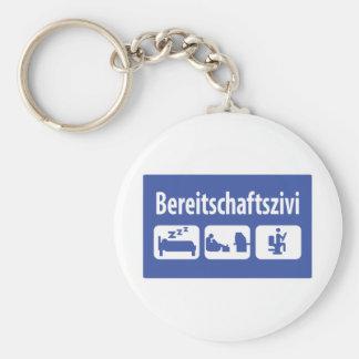 Bereitschaftszivi icon basic round button keychain