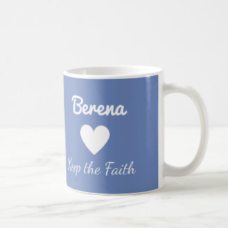 Berena Keep the Faith Blue Mug Holby City