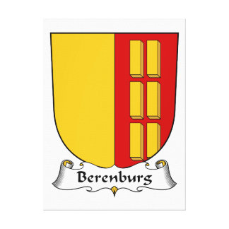 Berenburg Family Crest Stretched Canvas Print