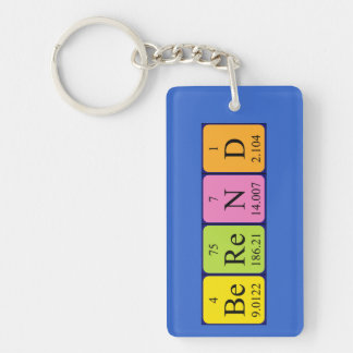 Berend periodic table name keyring keychain