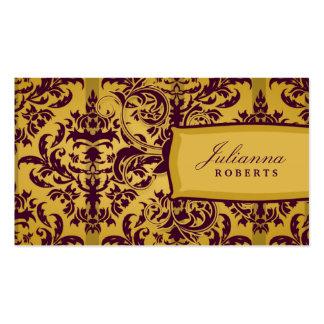 berenjena 311-Julianna y damasco de la mostaza Tarjetas Personales