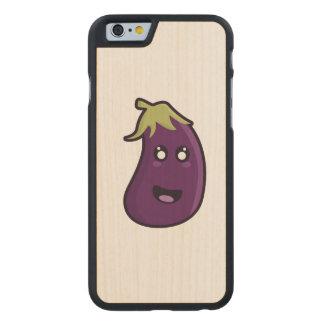 Berenjena de Kawaii Funda De iPhone 6 Carved® Slim De Arce
