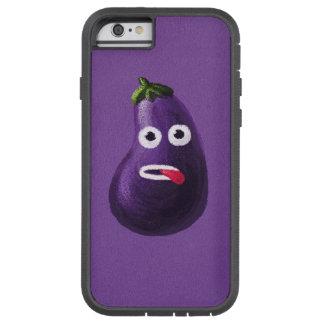 Berenjena divertida púrpura del dibujo animado funda de iPhone 6 tough xtreme
