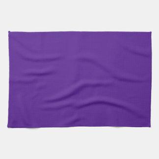 Berenjena, violeta, añil - color sólido elegante toalla de cocina