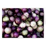 Berenjenas asiáticas púrpuras y blancas felicitaciones