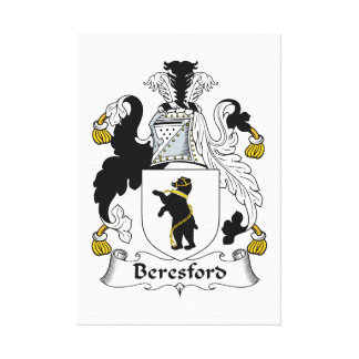 Beresford Family Crest Canvas Print