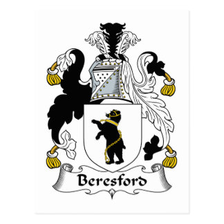 Beresford Family Crest Postcard