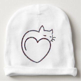"""Beret for baby """"Heart Cat """" Baby Beanie"""