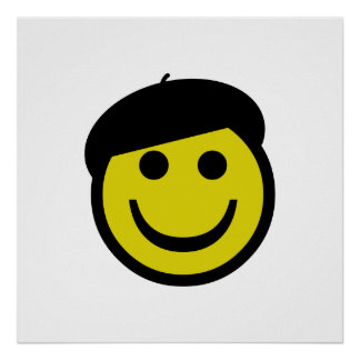 Beret Smiley Poster