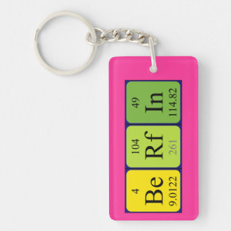 Berfin periodic table name keyring keychain