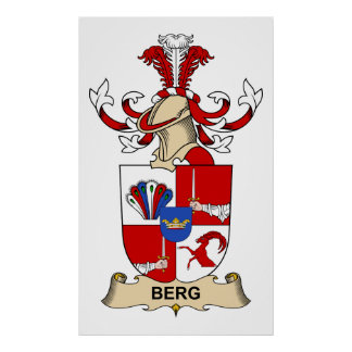 Berg Family Crests Print