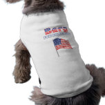 Berg for Congress Patriotic American Flag Doggie Tee Shirt