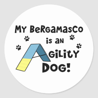 Bergamasco Agility Dog Classic Round Sticker