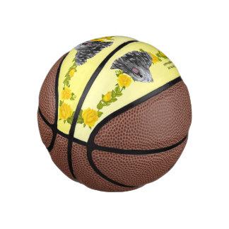 Bergamasco and Yellow Roses (mini) Basketball