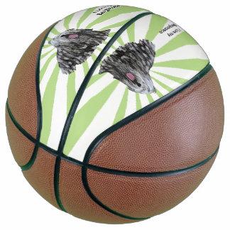 Bergamasco on White Starburst Basketball