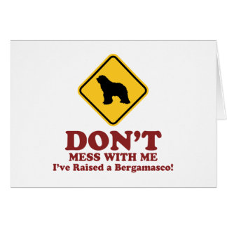 Bergamasco Sheepdog Card