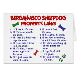 BERGAMASCO SHEEPDOG Property Laws 2 Greeting Cards