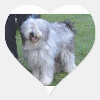Bergamasco Shepherd Dog Heart Sticker