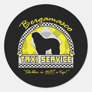 Bergamasco Taxi Service Classic Round Sticker