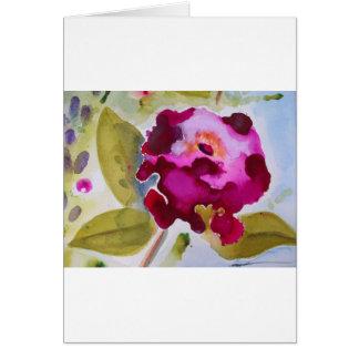 Bergandy Flower Card