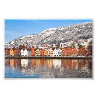 Bergen city photo print