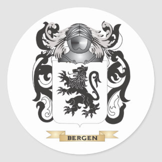 Bergen Coat of Arms (Family Crest) Round Stickers