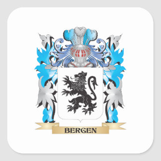 Bergen Coat of Arms Square Stickers
