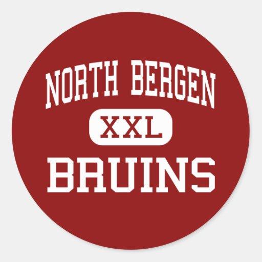 Bergen del norte - Bruins - alta - Bergen del Pegatina Redonda