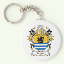 Bergen Family Crest Keychain