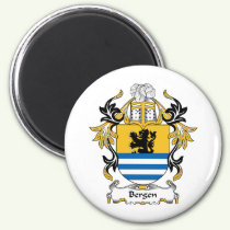 Bergen Family Crest Magnet