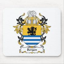 Bergen Family Crest Mousepad