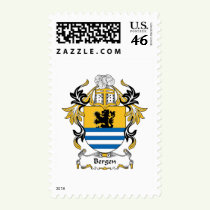 Bergen Family Crest Stamps