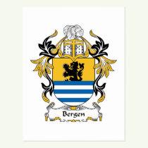 Bergen Family Crest Postcard