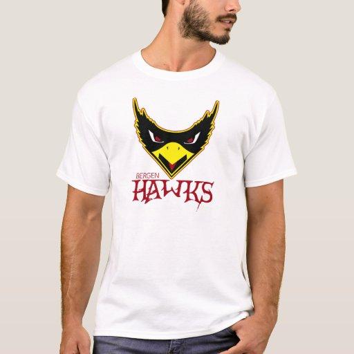 Bergen hawks womens ml t shirt zazzle for Hawks t shirt jersey