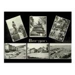 Bergen, multiview del vintage postal