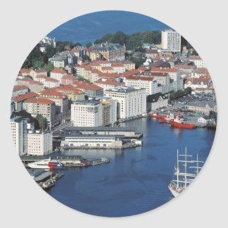 Bergen, Noruega Etiqueta Redonda