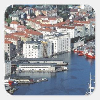 Bergen, Noruega Pegatinas Cuadradas Personalizadas