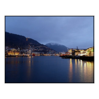 Bergen Noruega Póster