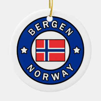 Bergen Norway Ceramic Ornament
