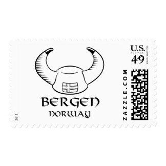 Bergen Norway Viking Hat Stamps