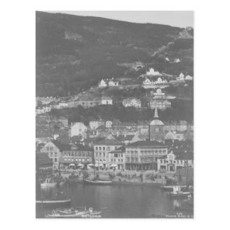 Bergen Norway Vintage Postcard
