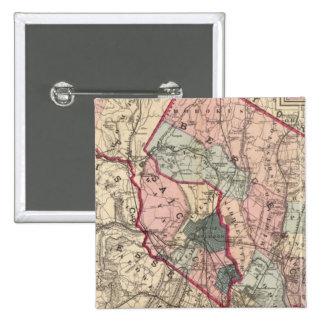 Bergen, Passaic Lechuga romana, NJ Pin Cuadrada 5 Cm