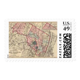 Bergen, Passaic Lechuga romana, NJ Sellos Postales
