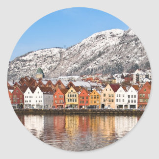 Bergen Pegatina Redonda