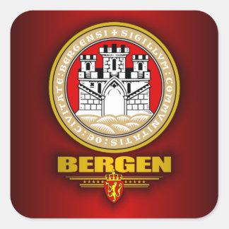Bergen Pegatina Cuadrada